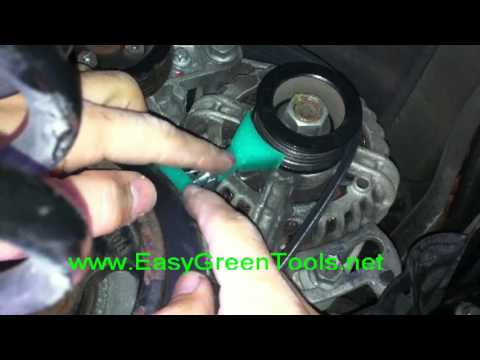 smart fortwo belt replacement tutorial easy green tools youtube
