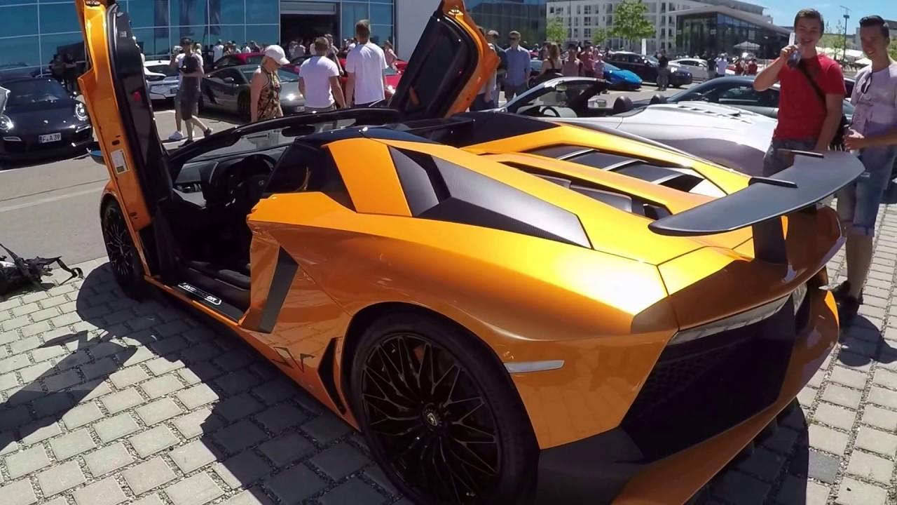lamborghini aventador roadster lp 750 4 sv super veloce walkaround interior orange