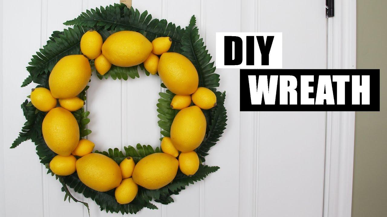 Diy Spring Summer Wreath Diy Lemon Wreath Diy Front Door Wreath