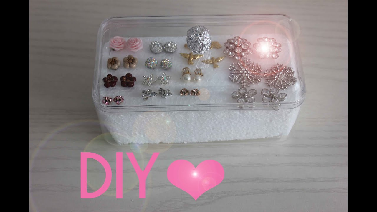 Idee Per Porta Orecchini porta orecchini fai da te - diy earrings holder