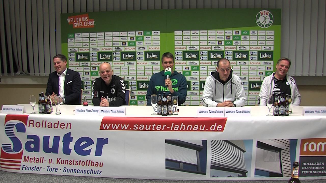 Fenster Gummersbach pressekonferenz hsg wetzlar vfl gummersbach