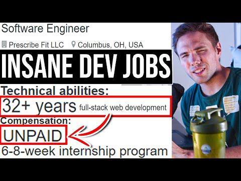 INSANE Dev Jobs | Unpaid Internships #grindreel