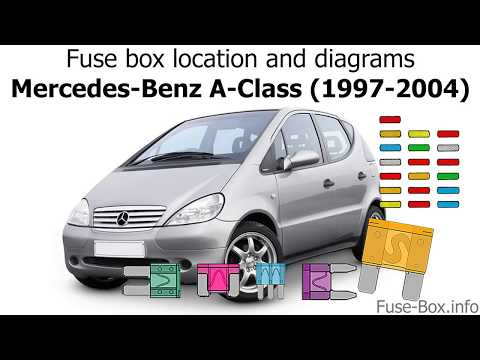 fuse box location and diagrams: mercedes-benz a-class (1997-2004) - youtube