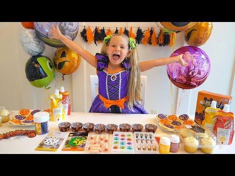 Diana Prepara-se Para A Festa De Halloween