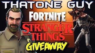 FORTNITE X STRANGER THINGS SKINS CHIEF HOPPER DEMOGORGON SKIN GIFTING STRANGER THINGS SKINS GIVEAWAY