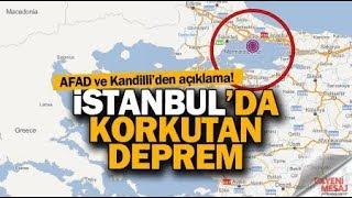 İSTANBUL'DA ŞİDDETLİ DEPREM!