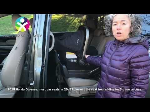 2018 Honda Odyssey - Nuna Pipa & IMMI Go in 2D/2P allow sliding of seat for 3rd row access