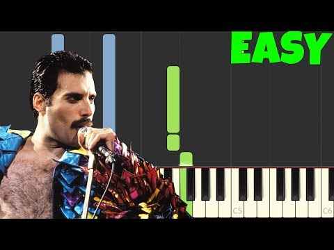 We Will Rock You - Queen [Easy Piano Tutorial] (Synthesia/Sheet Music)