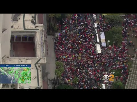 Thousands Pack LA Streets For Teachers' Strike