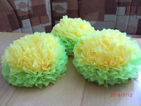фото цветы из салфеток