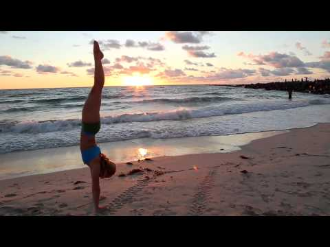 How to kick into handstand on the beach  with Kino Yoga