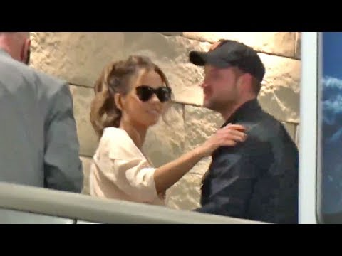 Kate Beckinsale Hugs Mystery Man At LAX As She Jets To Europe