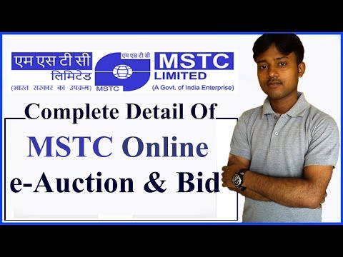 MSTC Online Auction & Bid Complete Detail