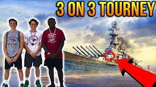 PLAYING BASKETBALL ON A WW2 BATTLESHIP! 3 on 3 Tournament! & WW2 Early Copy SCAMMED! - Vlog