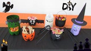 DIY Decoração Halloween | 7 idéias feitas com garrafas pet