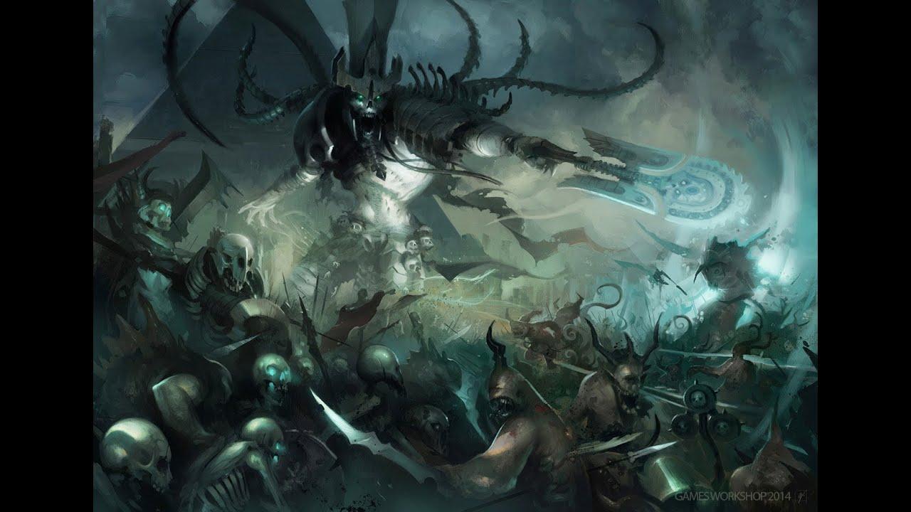 Age of Sigmar : Nagash vs Guerreros del Caos - YouTube