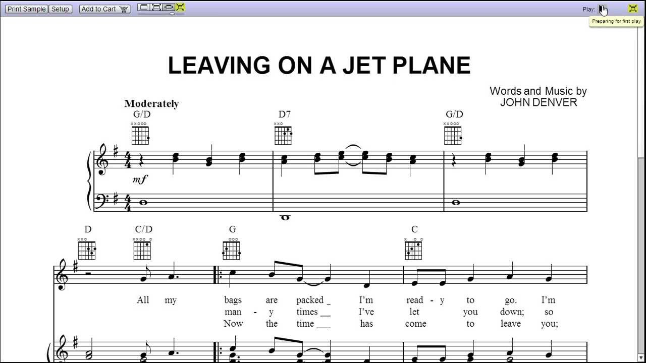 Leaving on a jet plane easy guitar chords choice image guitar leaving on a jet plane by peter paul and mary piano sheet music leaving on a hexwebz Images