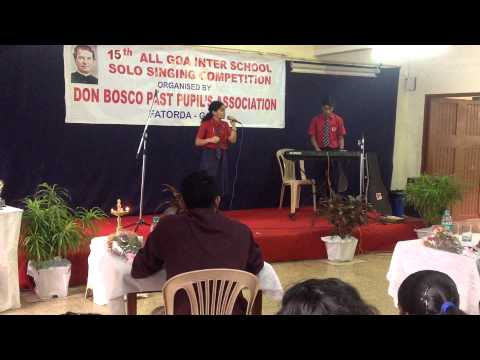Winners of the All Goa Inter School Solo Singing Competition