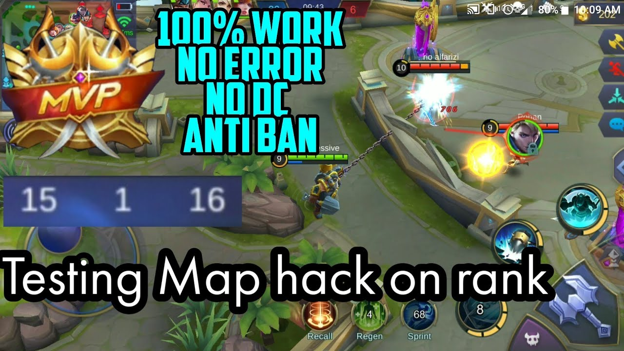 Mobile legends Hack High View / Drone view and Map Hack