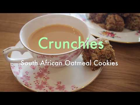 Crunchies (South African oatmeal cookies)