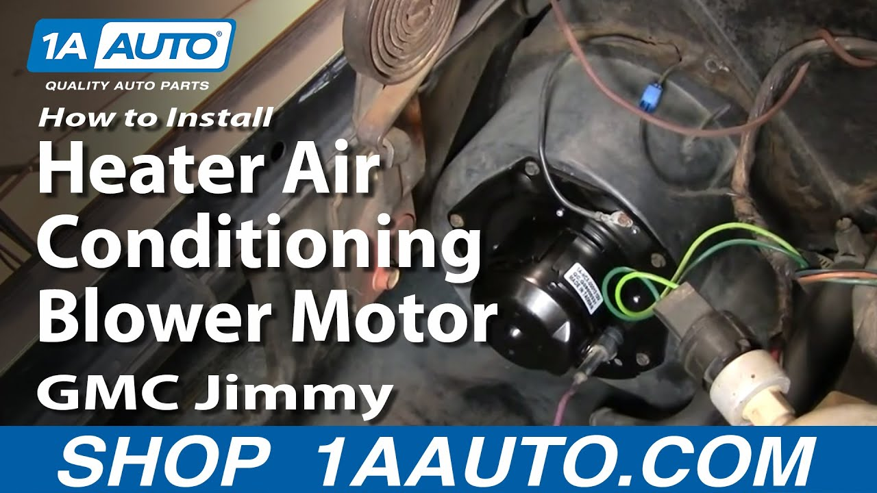 how to install heater air conditioning blower motor chevy gmc pickup rh youtube com