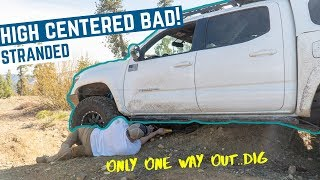 High Centered the Tacoma Bad on the Back Country Discover Route   Overland Camping