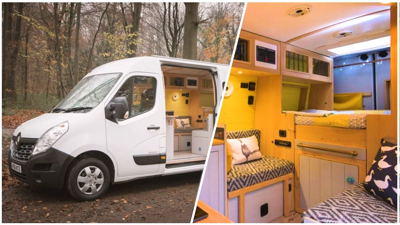 PRACTICAL Van Conversion with 2 Double Beds, Massive Storage & Heated  Garage 🔥🚐 Full Tour