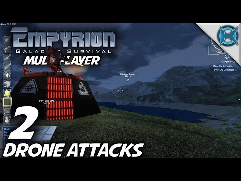 """Empyrion Galactic Survival -Ep. 2- """"Drone Attacks"""" -Multiplayer Let's Play- Alpha 2 (S-3)"""