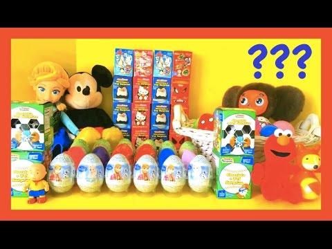 60 Surprise Eggs Disney Collector Cars 2 Peppa Pig Kinder Eggs Surprise DCTC
