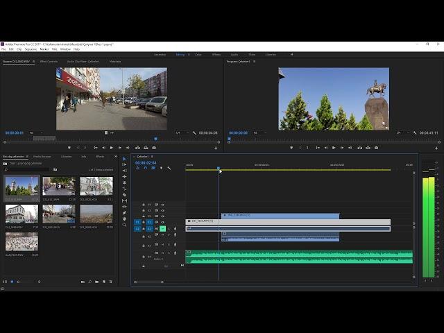Premiere Pro Eğitimi 12 -  Video ses ayarları için örnek yapmak