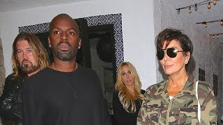 PREMIUM EXCLUSIVE: Kris Jenner And Corey Gamble Double Date With Billy Ray And Tish Cyrus