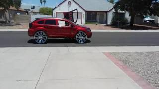 First Dodge Caliber on 28 inch rims