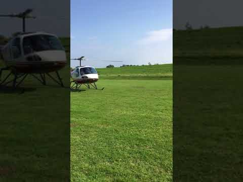 Helikoptervlucht tijdens braderie in Tholen