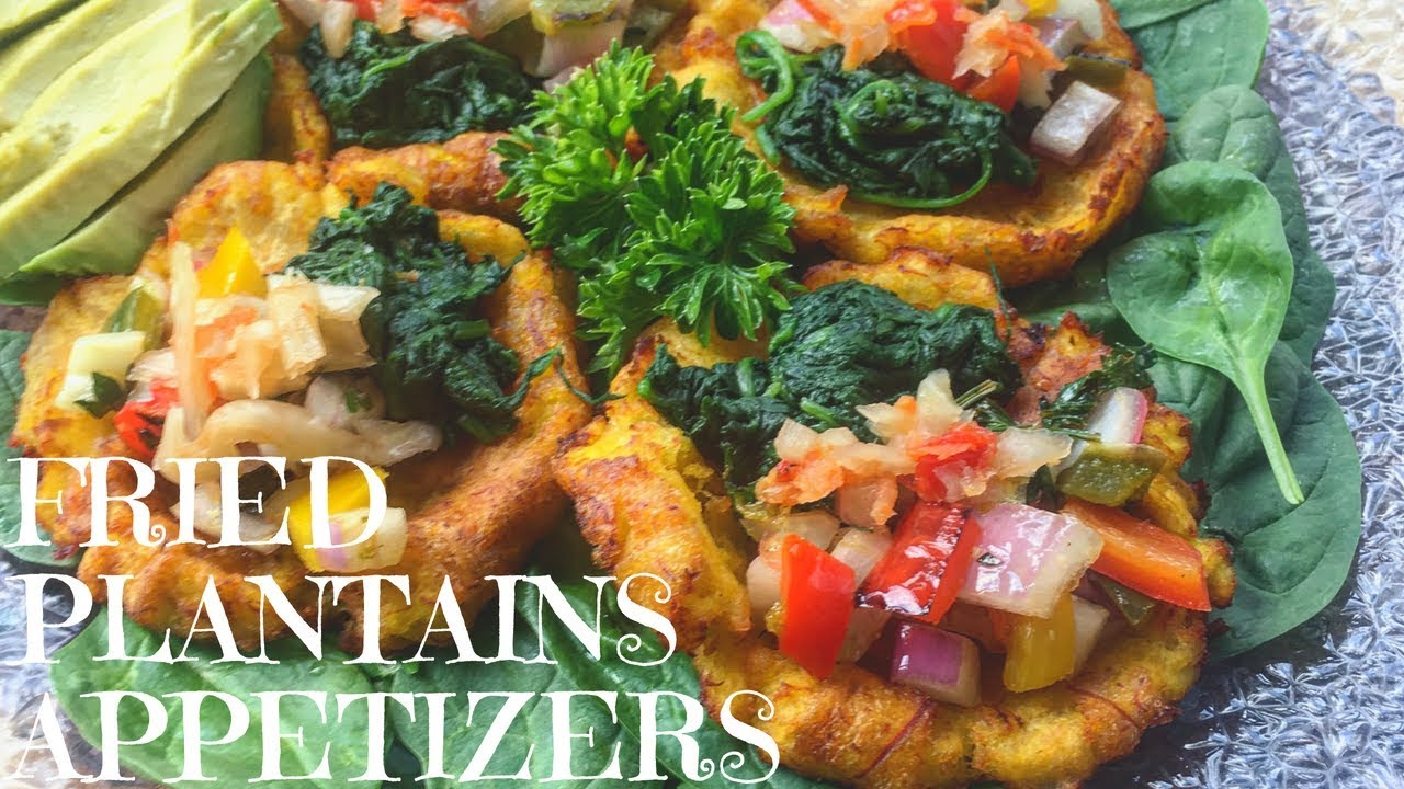 Fried Plantains with Spinach | Haitian Vegan meals - YouTube