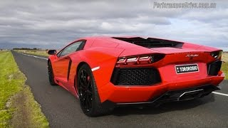 Video 2015 Lamborghini Aventador LP700-4 0-100km/h & engine sound download MP3, 3GP, MP4, WEBM, AVI, FLV Juni 2018