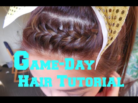 Easy School Spirit Hair Tutorial Easy French Braid