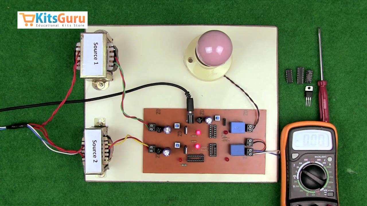 Two Phase Changeover By Kitsgurucom Lgee014 Youtube Automatic Switch Circuit Using 555 Timer