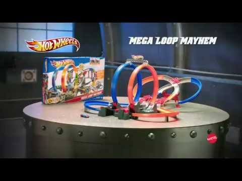 mattel hot wheels mega loop mayhem trackset youtube. Black Bedroom Furniture Sets. Home Design Ideas