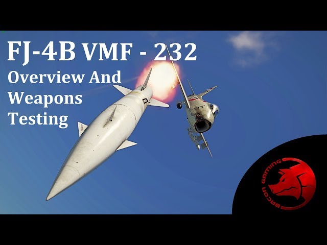 FJ-4B VMF-232 - Overview and Weapons Testing - War Thunder Operation S.U.M.M.E.R