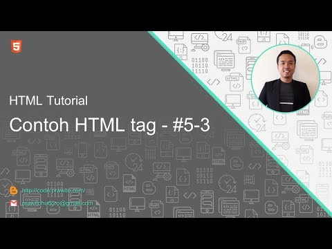 Contoh HTML Tag #5-3 HTML Tutorial [Indonesia]