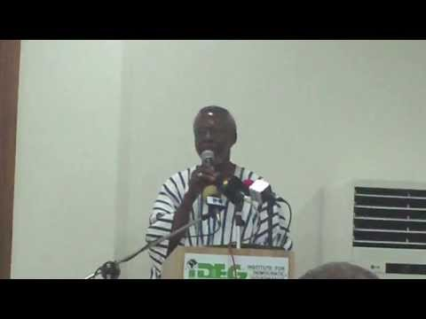 Professor Kwame Ninsin opens Ghana's citizen assessment of Fifty Years of the AU
