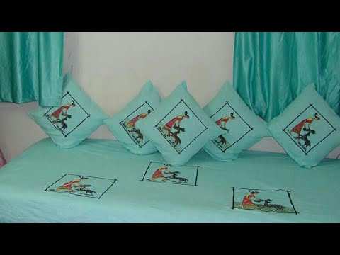 Bedsheet Painting Ideas Very Easy Fabric Painting Youtube
