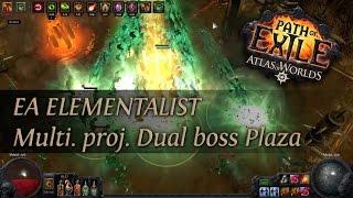Path Of Exile 2.4: Grand Spectrum EA Elementalist - Multi. proj. Dual boss T13 Plaza