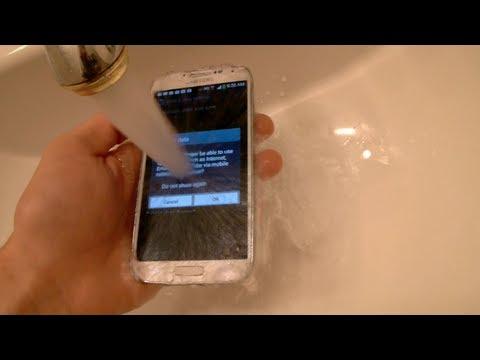 Samsung Galaxy S4 防水测试