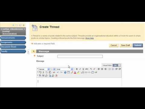 MATC - Blackboard - How to Add a Thread to a Blackboard Discussion Forum