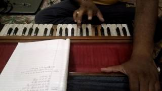 How to play Chand si mehbuba in keyboard or harmonium