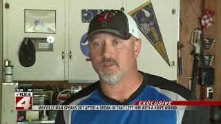 Mayville man slashed with knife during garage break-in, suspect flees on foot