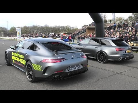Mercedes AMG GT63S vs. RS6 vs. Aventador S vs Jaguar Project 8 vs. Alpine B7 & More!