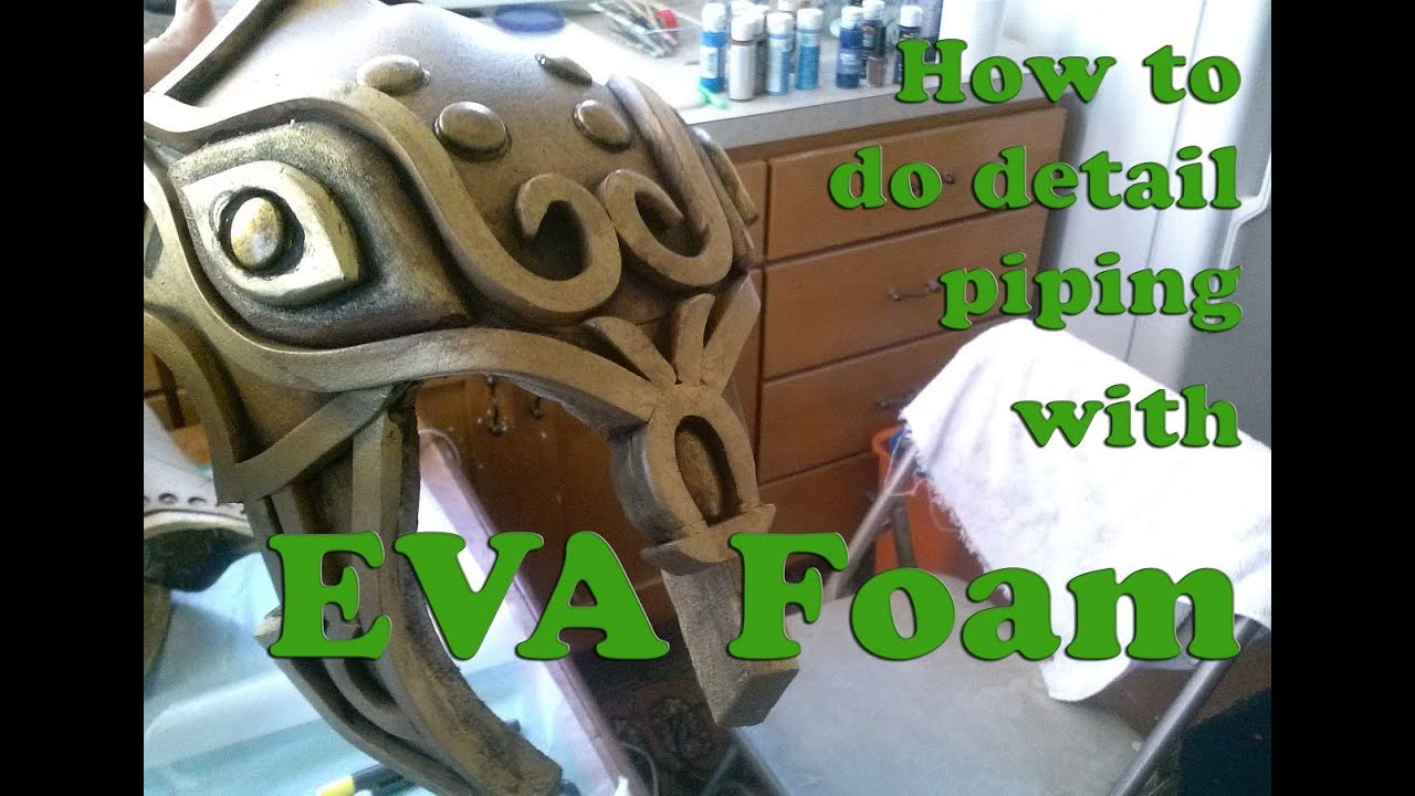Detail Piping for EVA Foam Cosplay Tutorial - YouTube