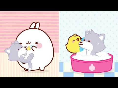 MOLANG 🎿 Winter Holidays #3 🎿 | Molang & Piu Piu are FACING THE SNOW | Cartoons for Kids
